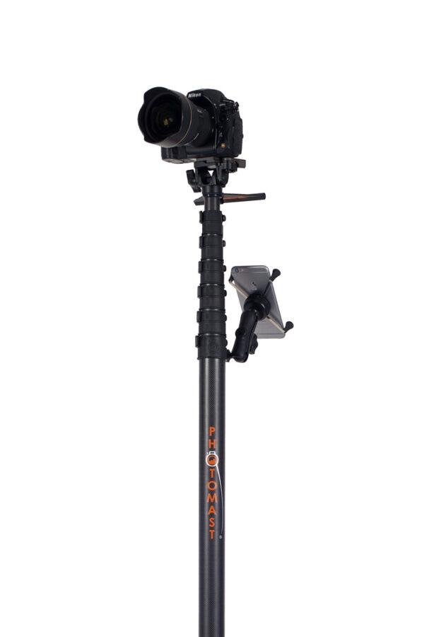 Photomast pole aerial photography